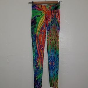 TRACK & FIELD Paisley Print Active Legging small